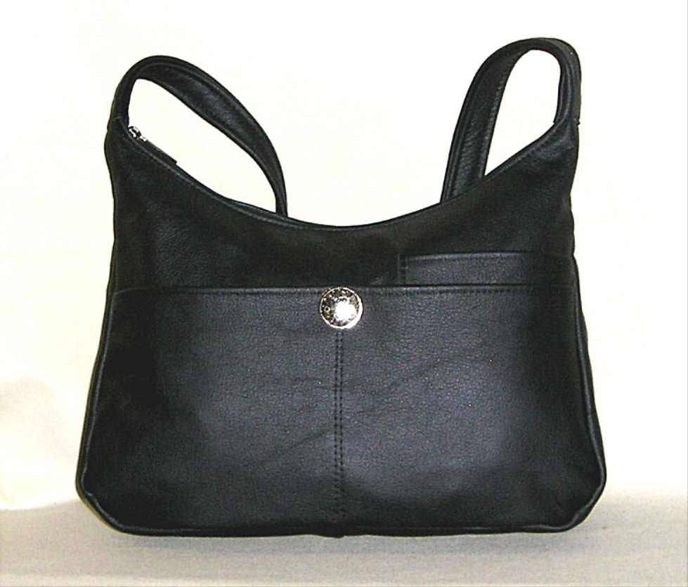 Black Leather handbag with Silver Concho Enter quantity when new window  opens. Medium  65.00. Large  72.00. Adjustable Strap Medium 67.85 98a44ac7e9fa4